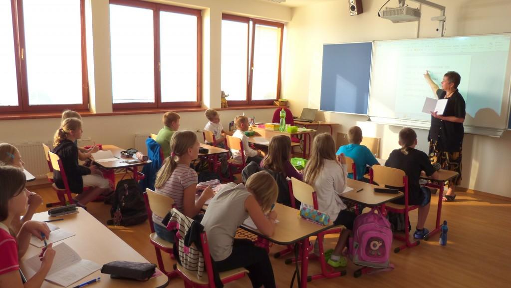 nová učebna v půdním prostoru
